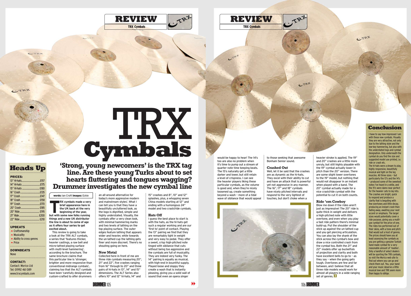 TRX ALT review in DRUMMER Magazine